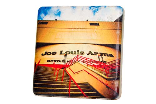 Joe Louis Arena Color Porcelain Tile Coaster - Pure Detroit