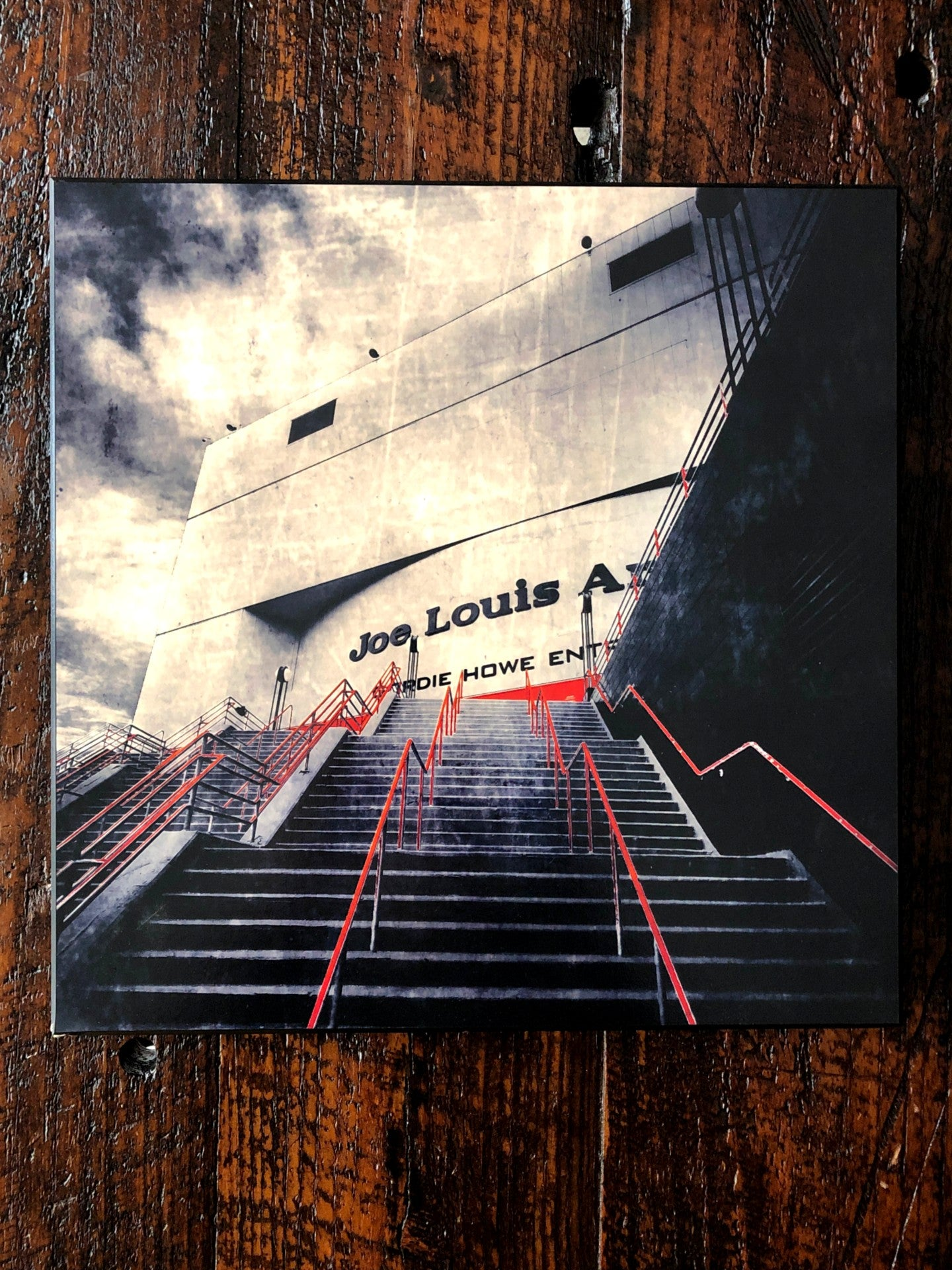 Joe Louis Steps Black and White Woodblock Print - Pure Detroit