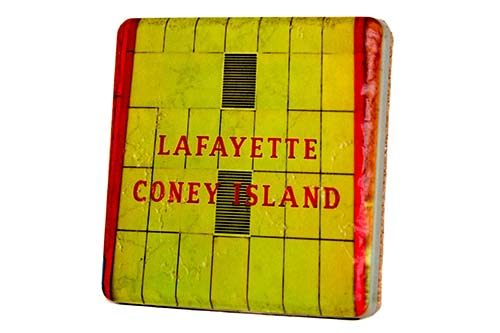 Lafayette Coney Island Porcelain Tile Coaster - Pure Detroit