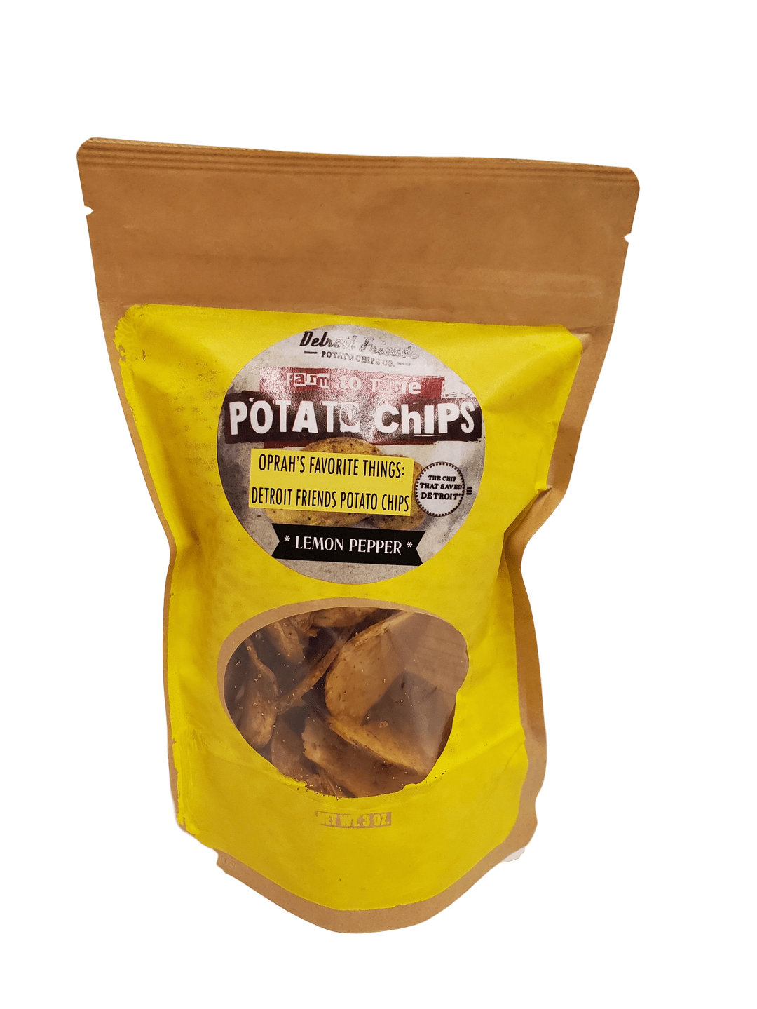 Detroit Friends Potato Chips - Lemon Pepper - Pure Detroit
