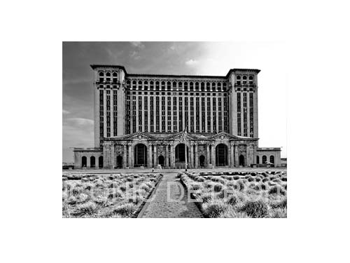 Michigan Central Station Black and White Luster or Canvas Print $35 - $430