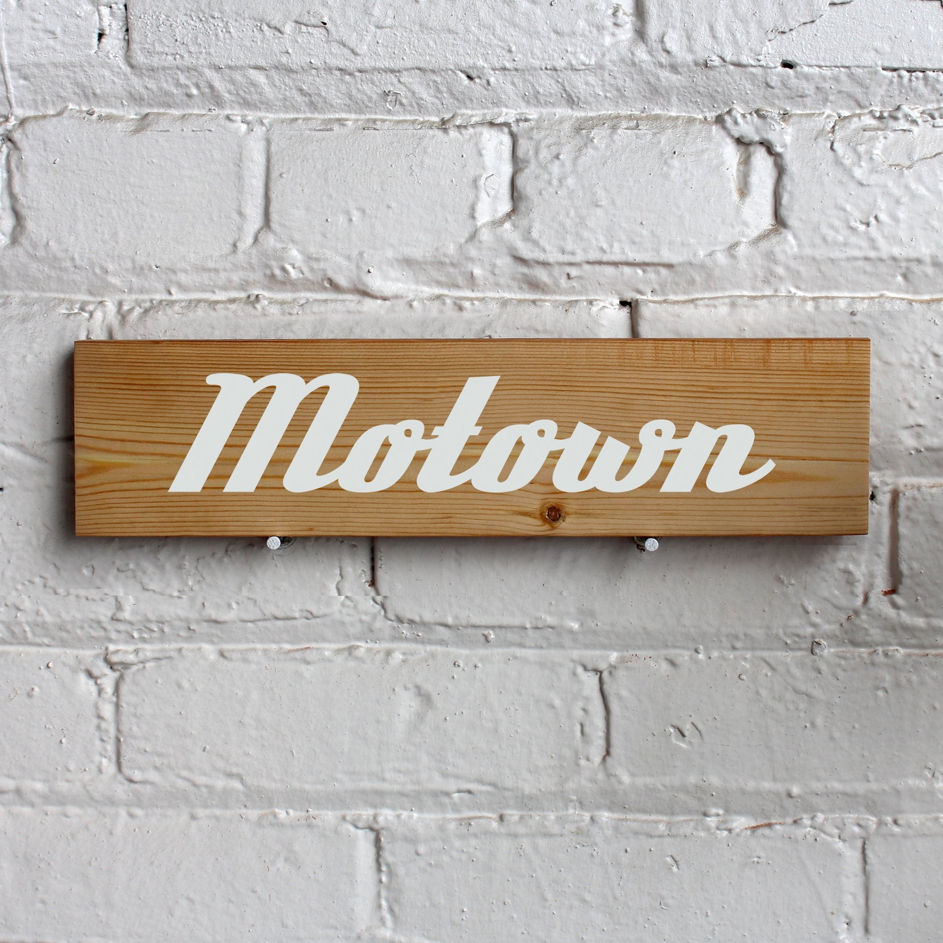 Reclaimed Wood Sign - Motown
