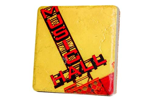 Music Hall Porcelain Tile Coaster - Pure Detroit