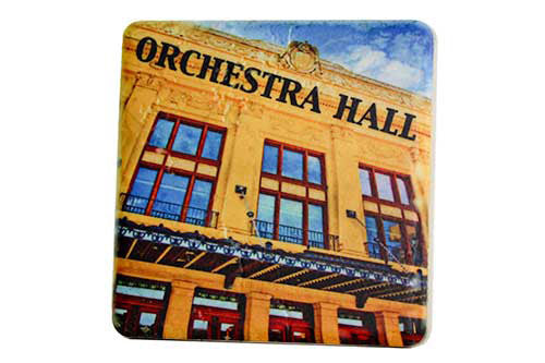 Orchestra Hall Porcelain Tile Coaster - Pure Detroit