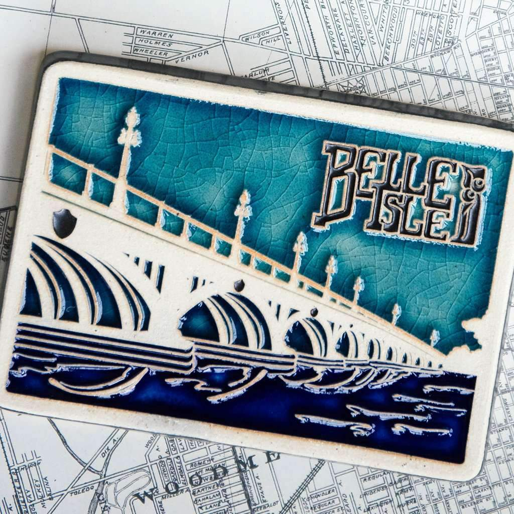 Belle Isle Bridge Pewabic Tile - Pure Detroit