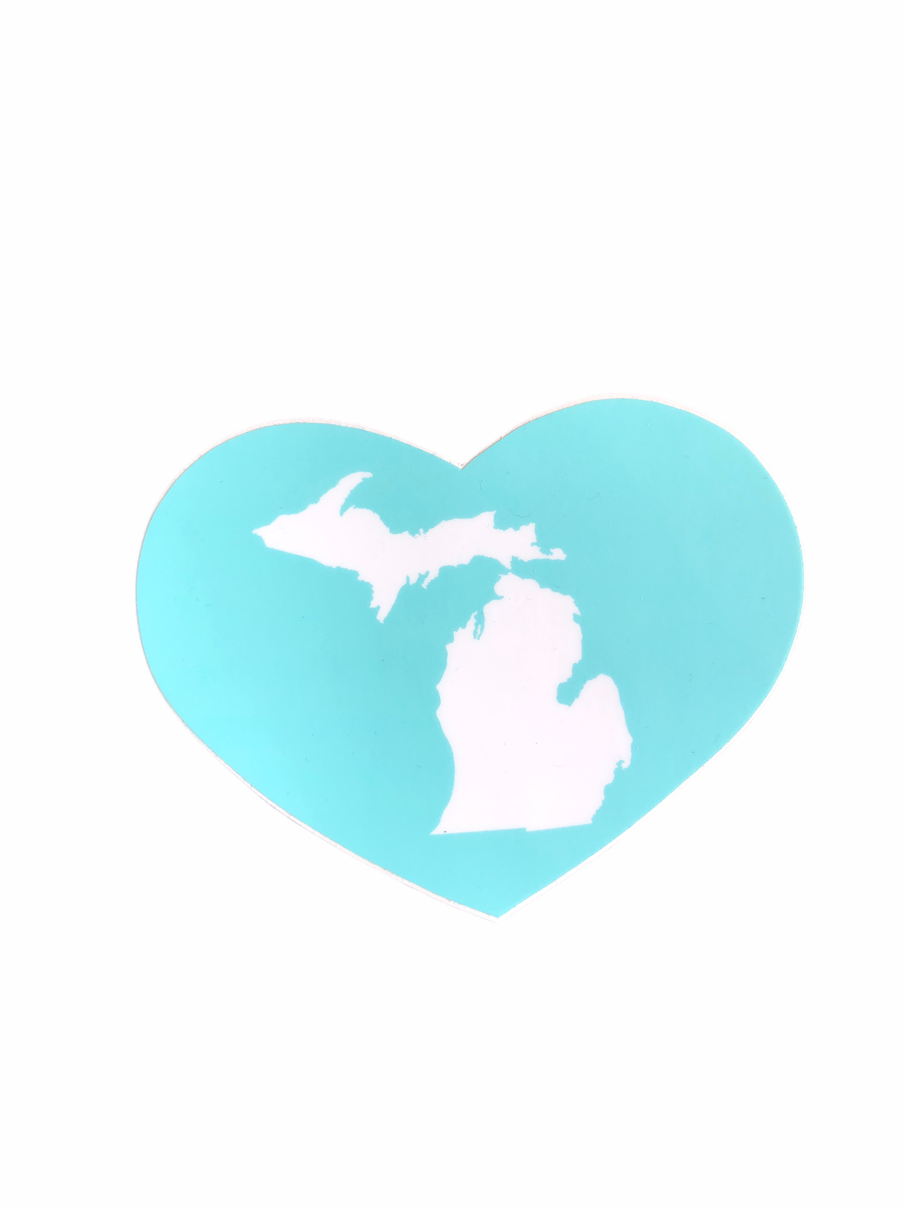 Enjoy Michigan Great Lakes Heart Decall / Turqoise - Pure Detroit