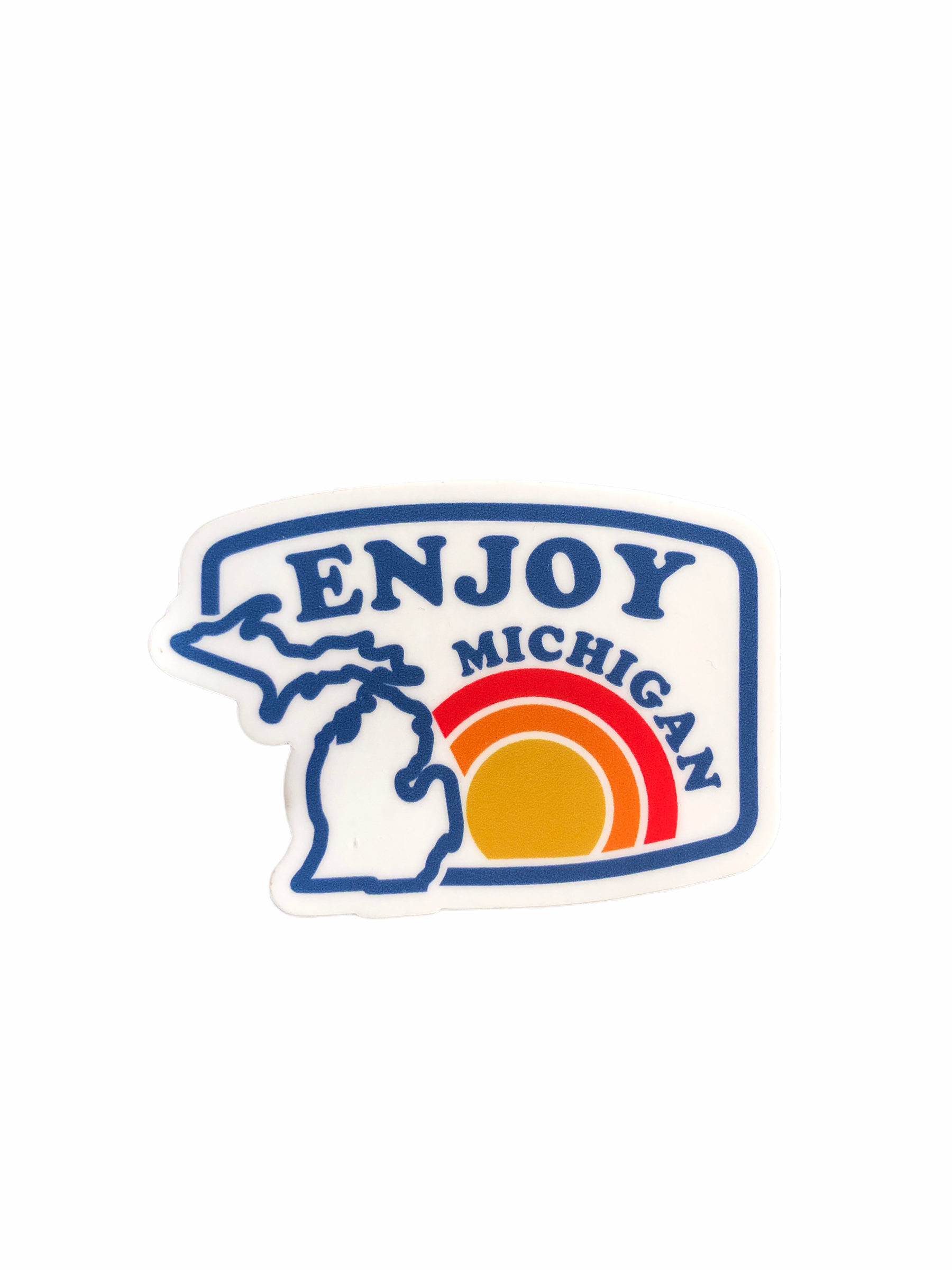 Enjoy Michigan Sunrise Decal - Pure Detroit