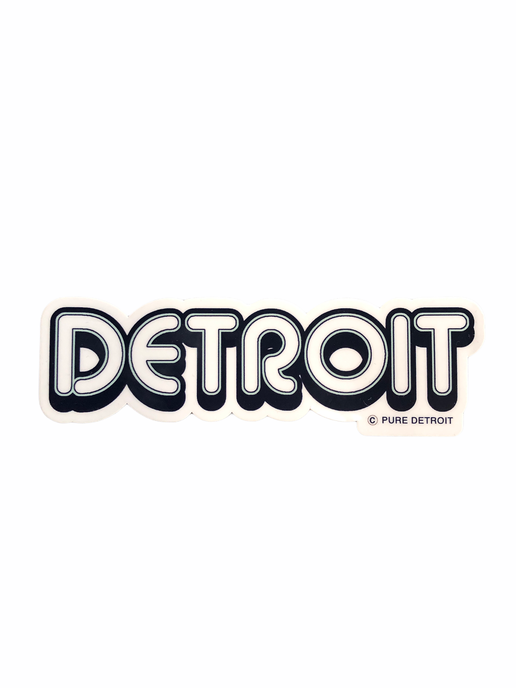 Detroit Neon Decal - Pure Detroit