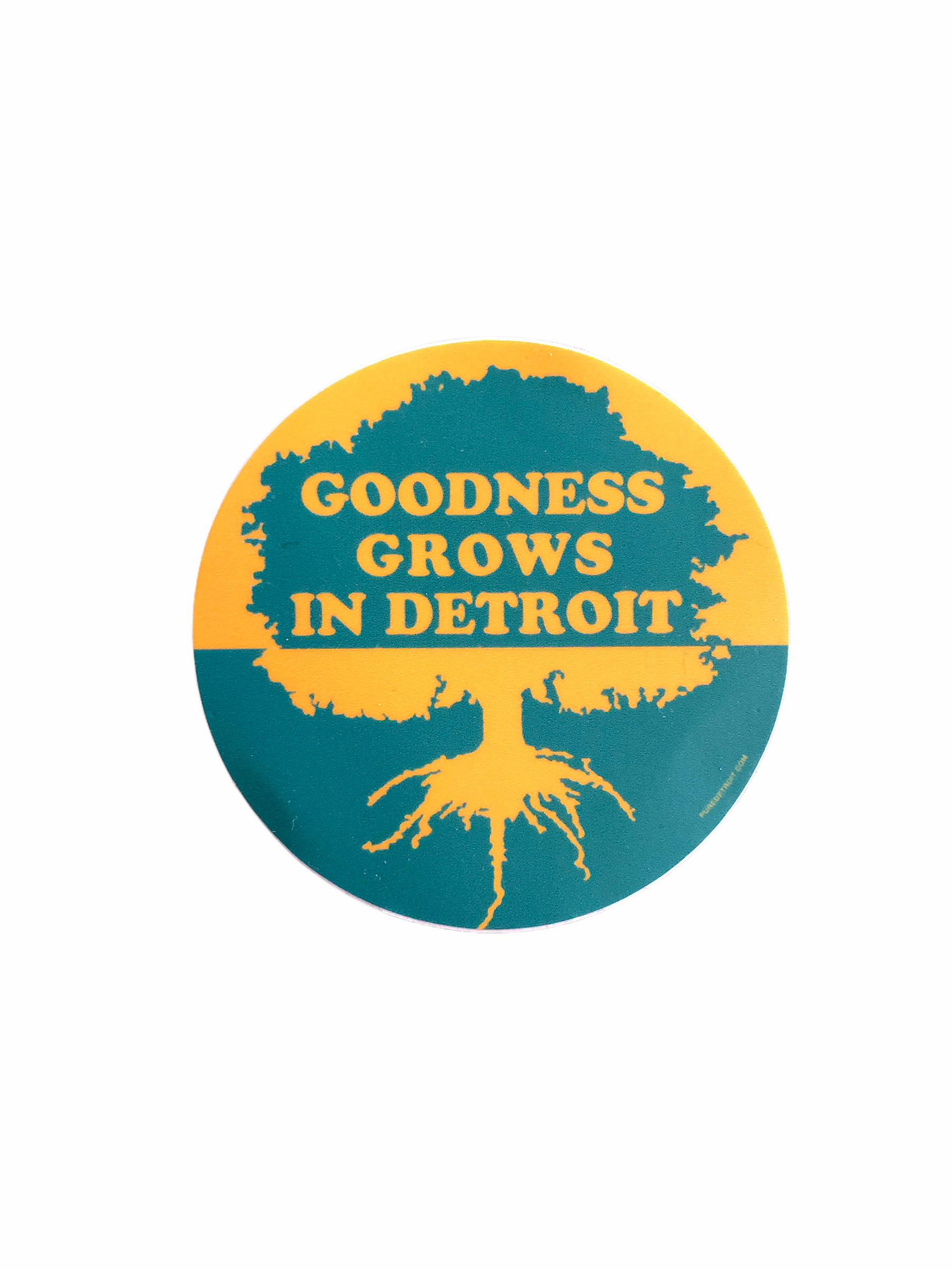 Goodness Grows in Detroit Decal - Pure Detroit