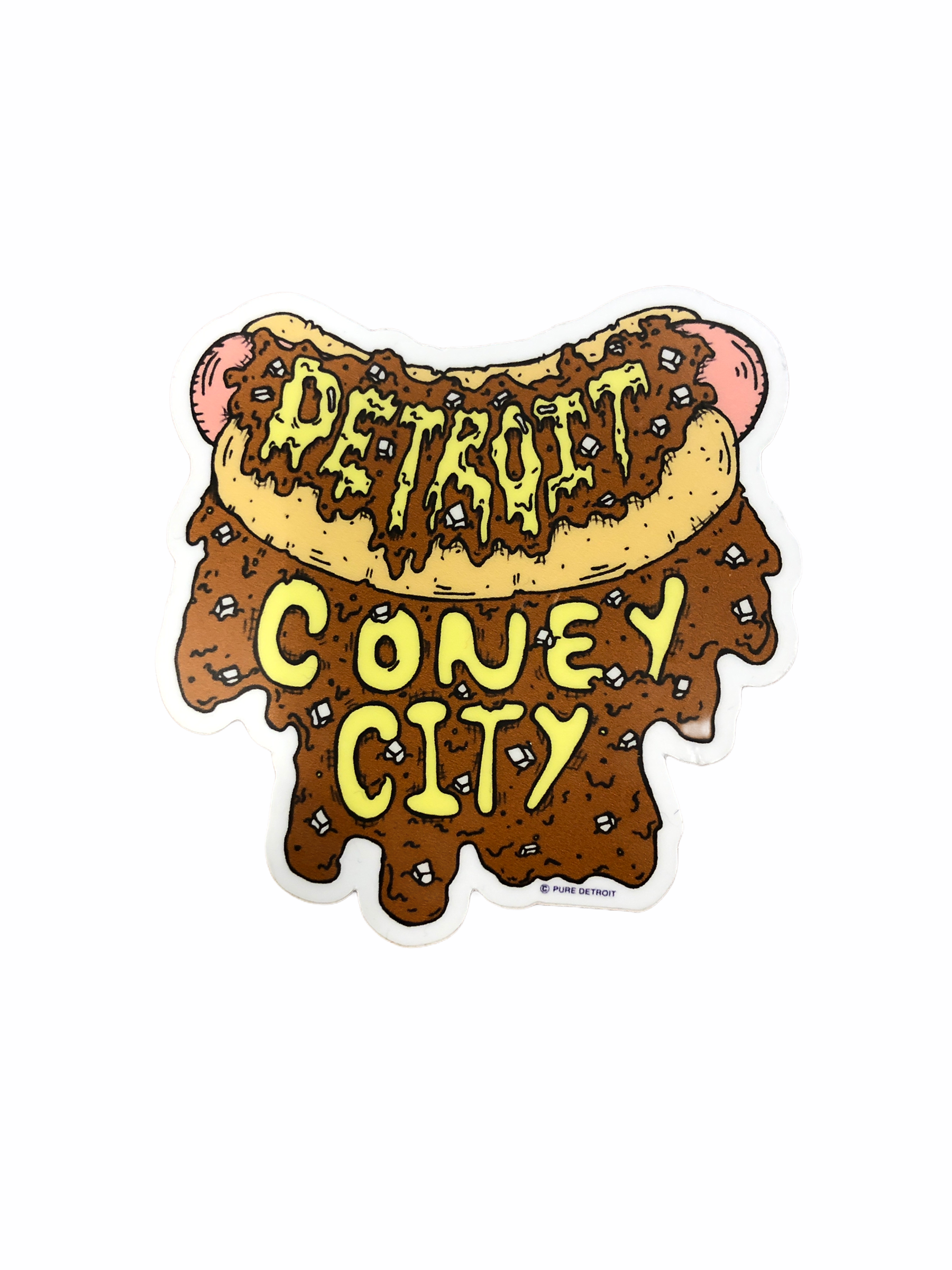 Detroit Coney City Decal - Pure Detroit