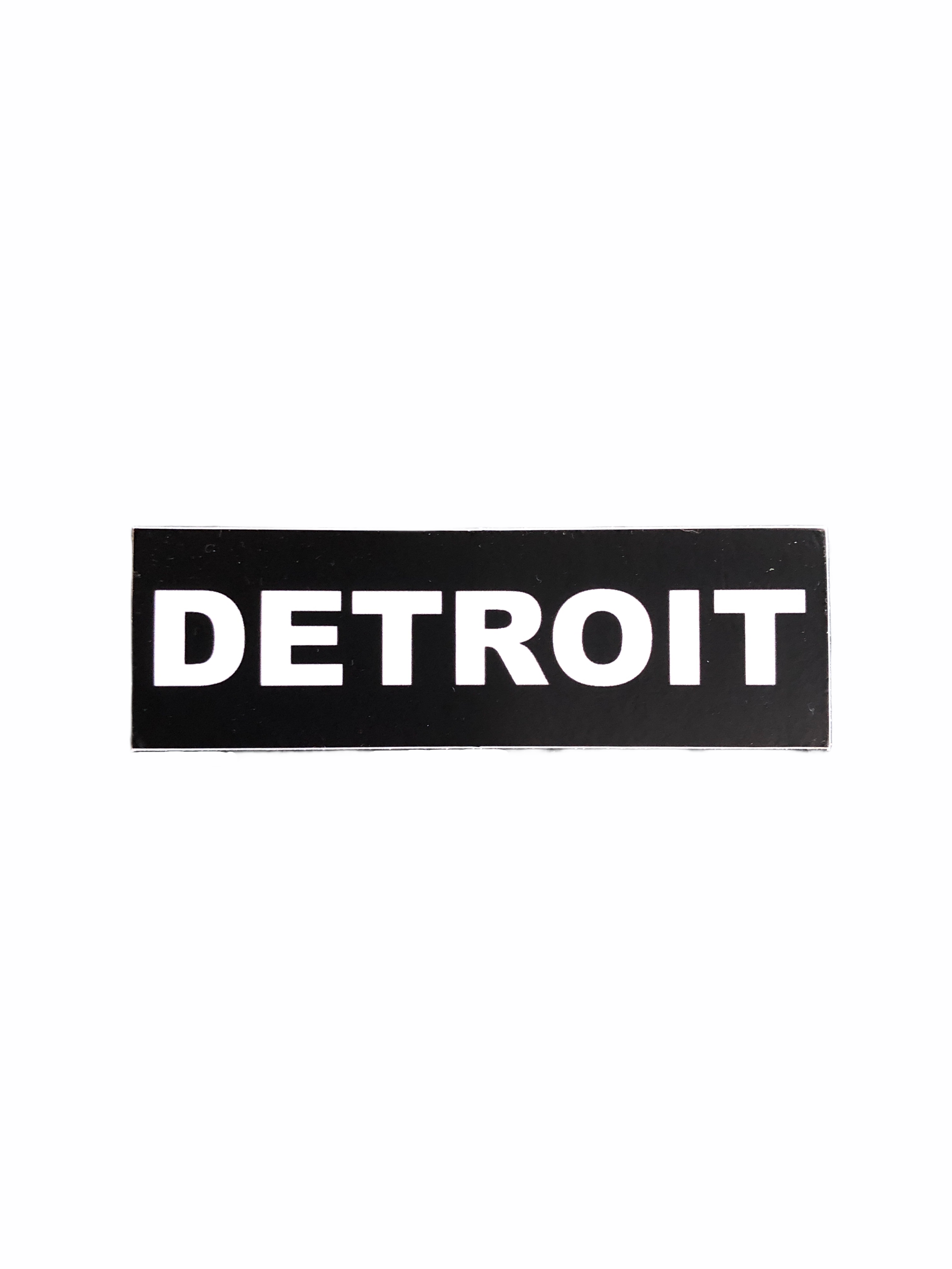 Detroit Premium Black Decal - Pure Detroit