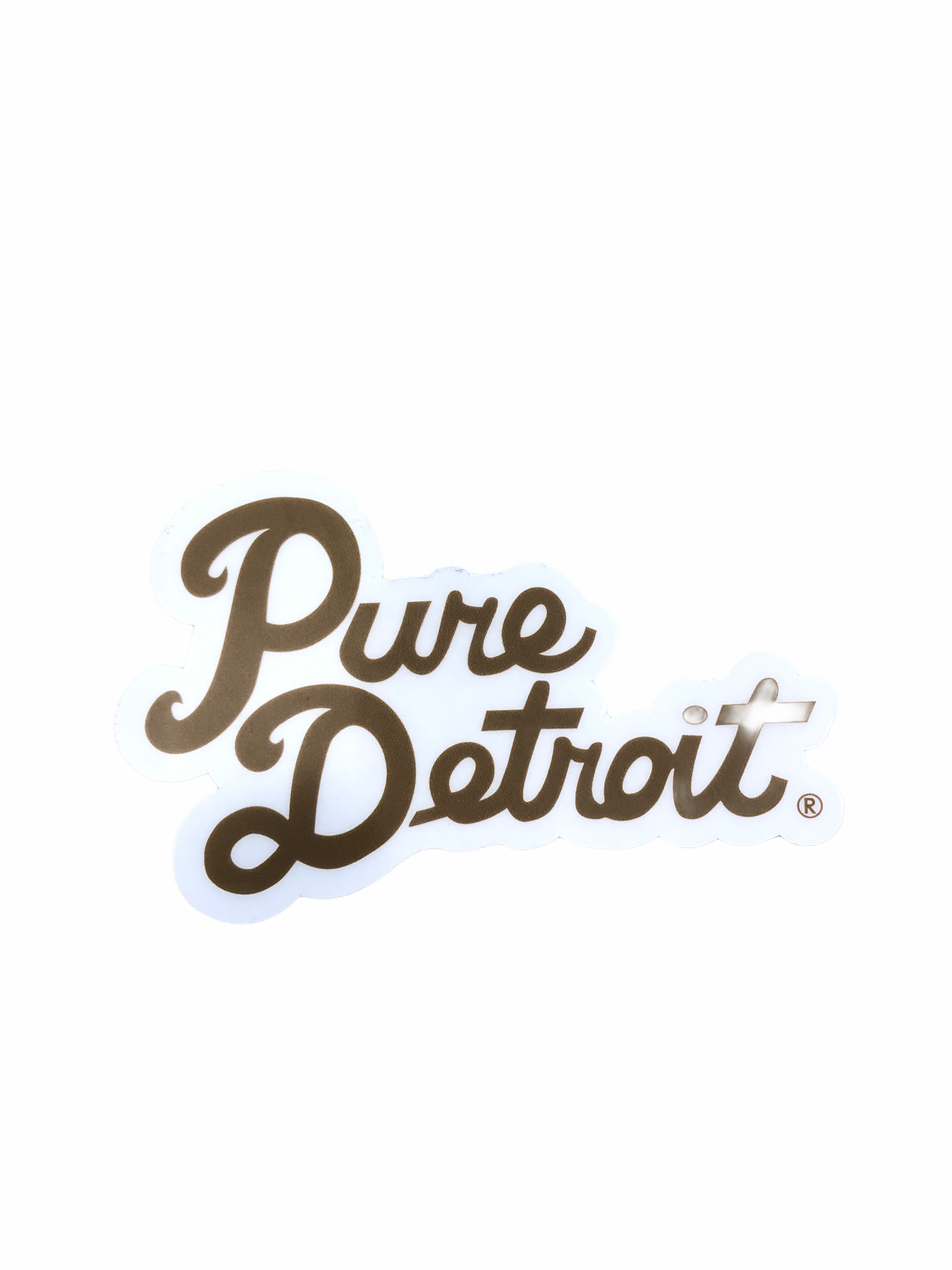 Pure Detroit Script Decal - Pure Detroit