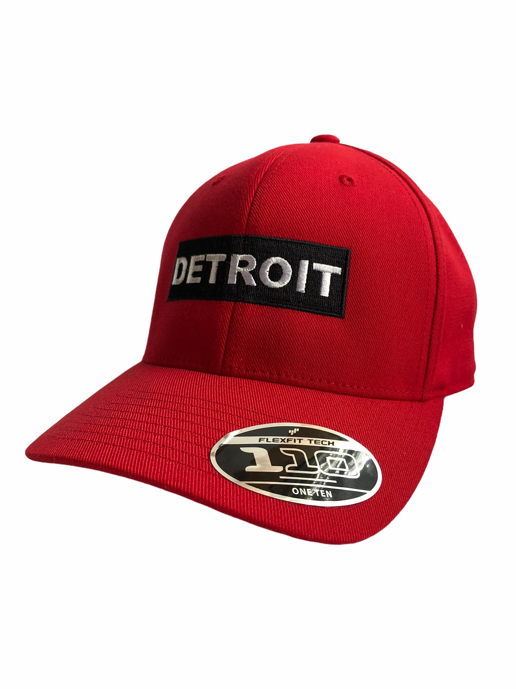 Detroit Premium Velcro Hat / Red - Pure Detroit