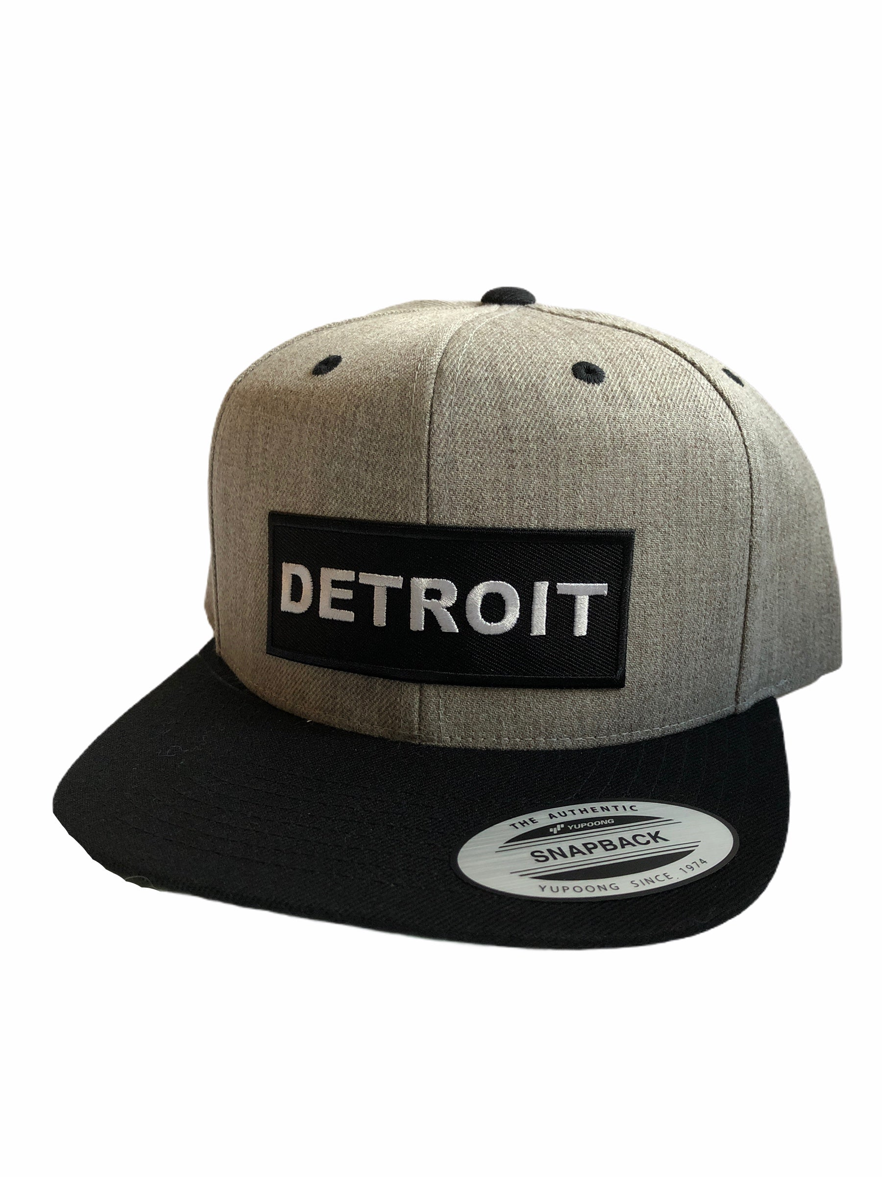Detroit Premium Snapback Hat / Gray + Black - Pure Detroit