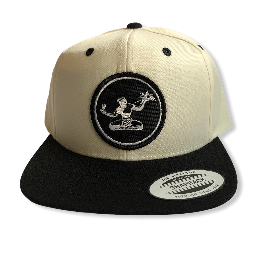 Spirit of Detroit Snapback Hat / Cream + Black
