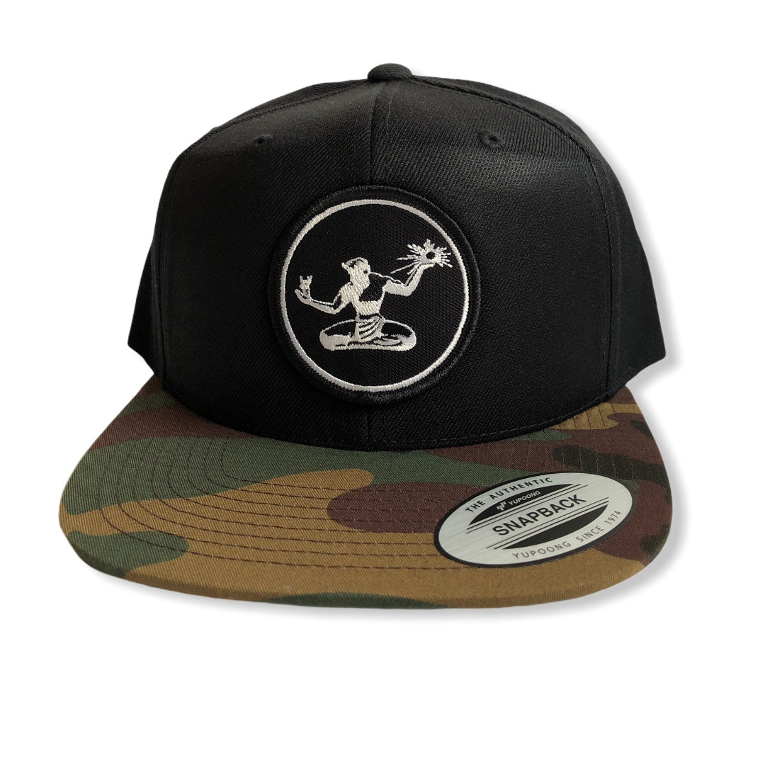 Spirit of Detroit Snapback Hat / Black + Camo