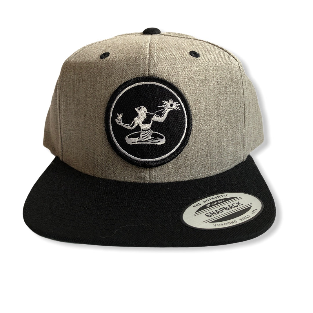 Spirit of Detroit Snapback Hat / Gray + Black - Pure Detroit