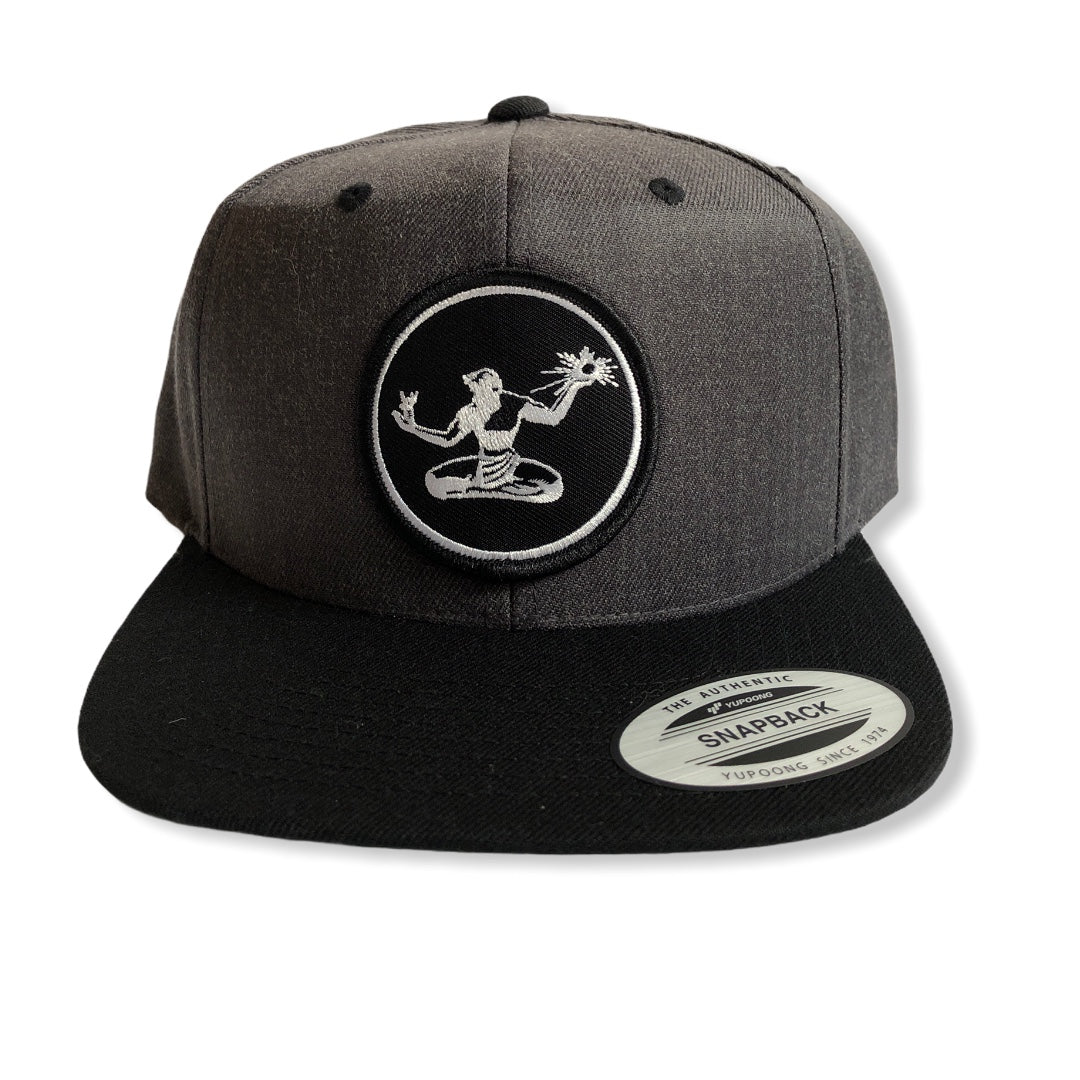 Spirit of Detroit Snapback Hat / Charcoal + Black - Pure Detroit