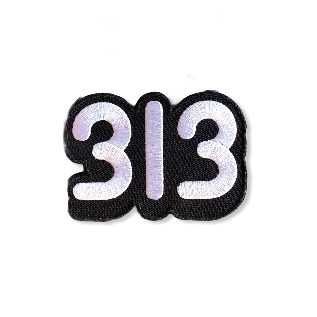 313 Iron-on Patch - Pure Detroit