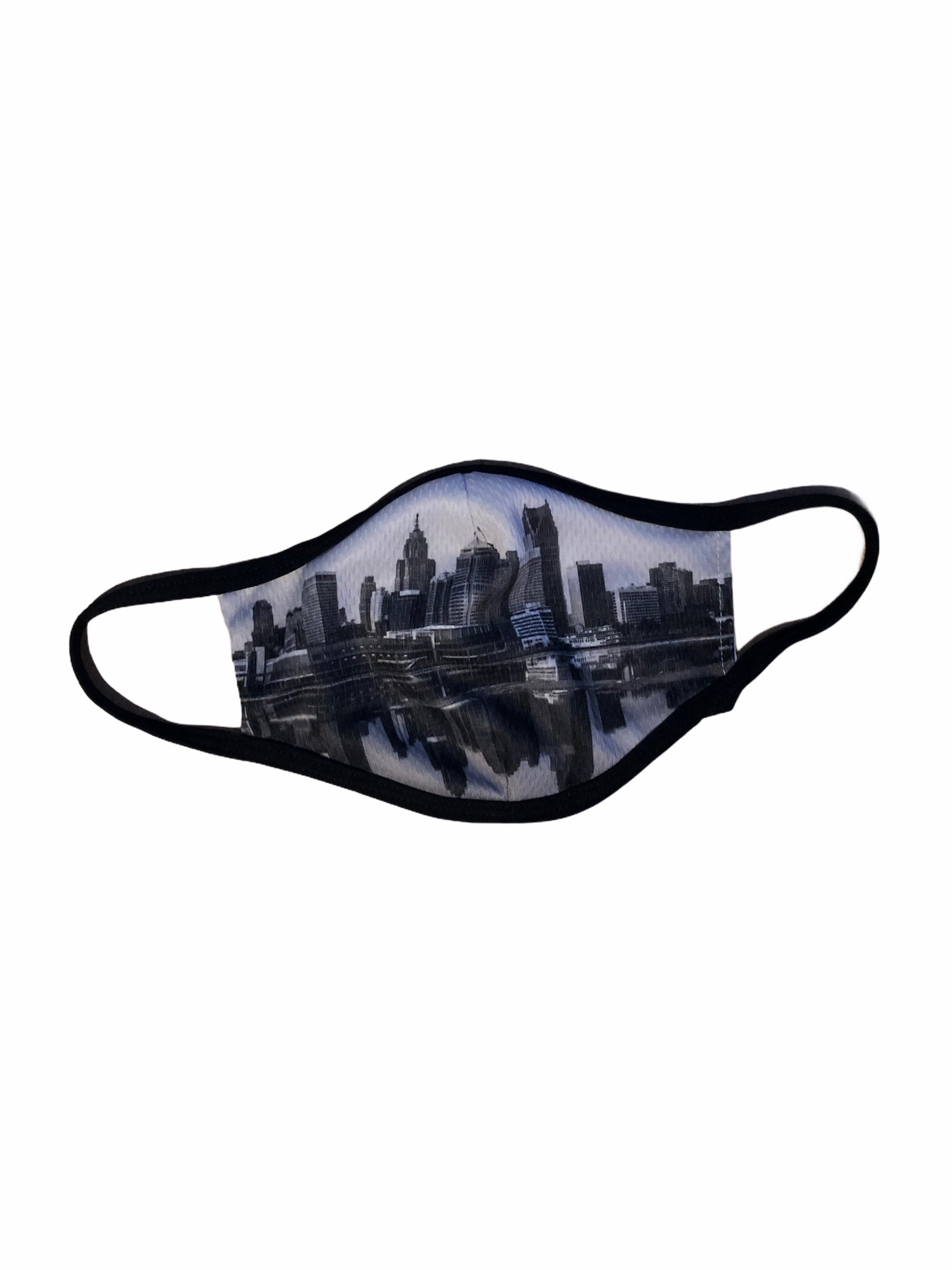 City of Detroit Face Mask / Gray + Black - Pure Detroit