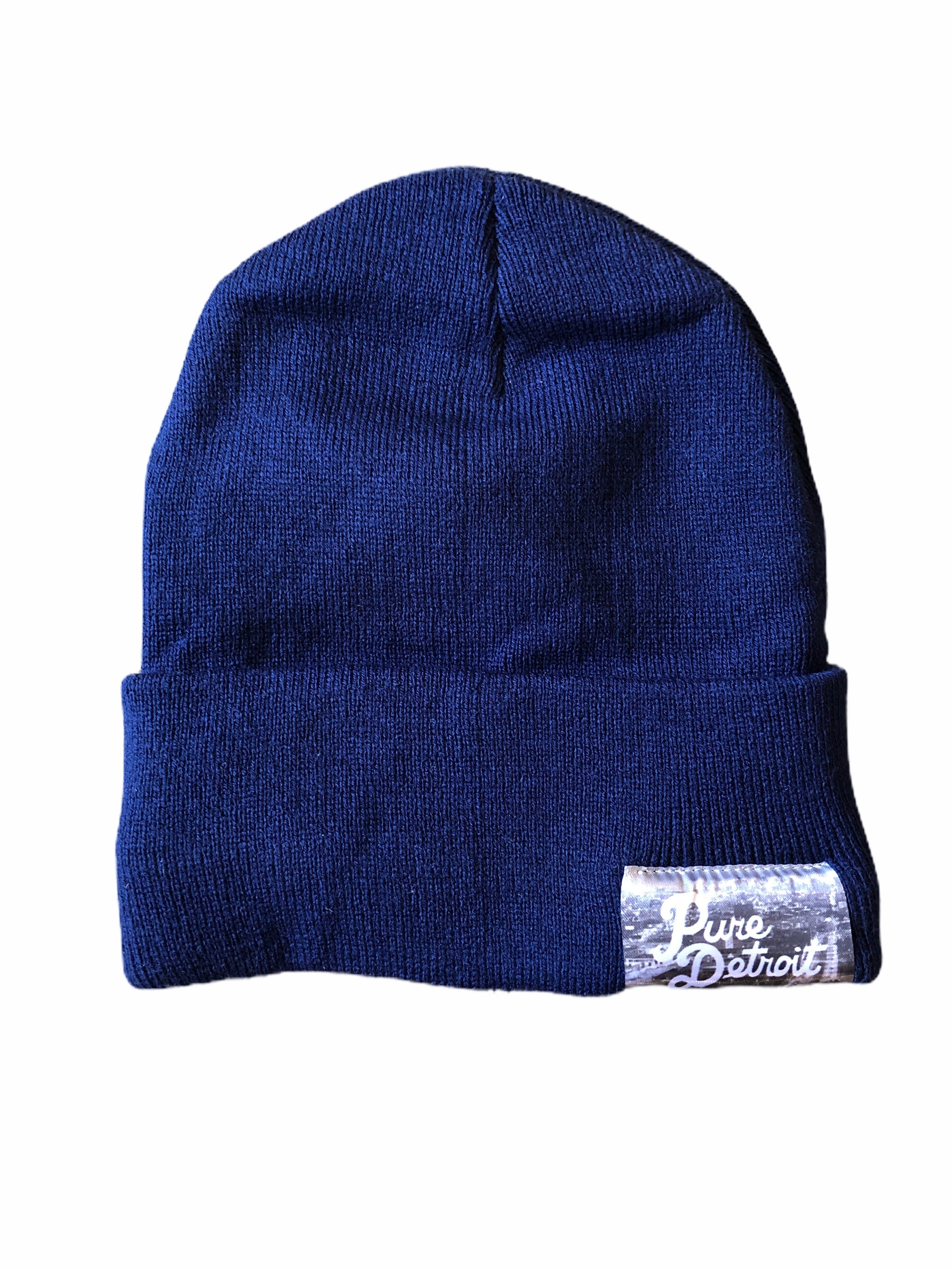Pure Detroit Cuffed Beanie / Heather Dark Royal - Pure Detroit