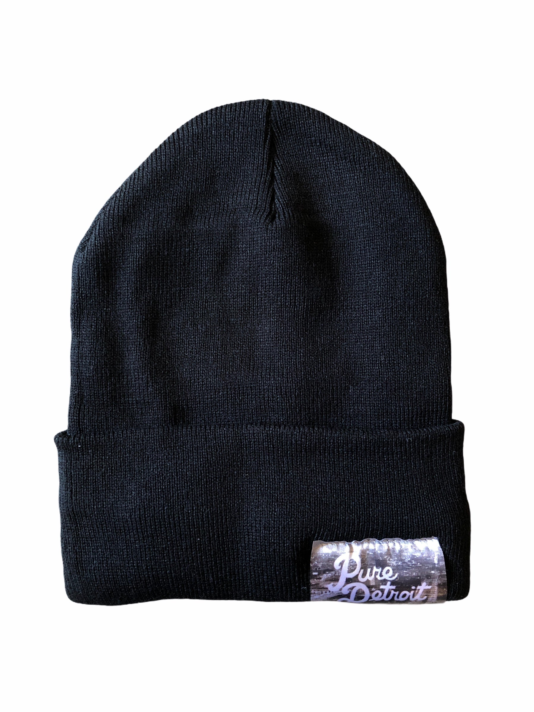 Pure Detroit Cuffed Beanie / Black - Pure Detroit