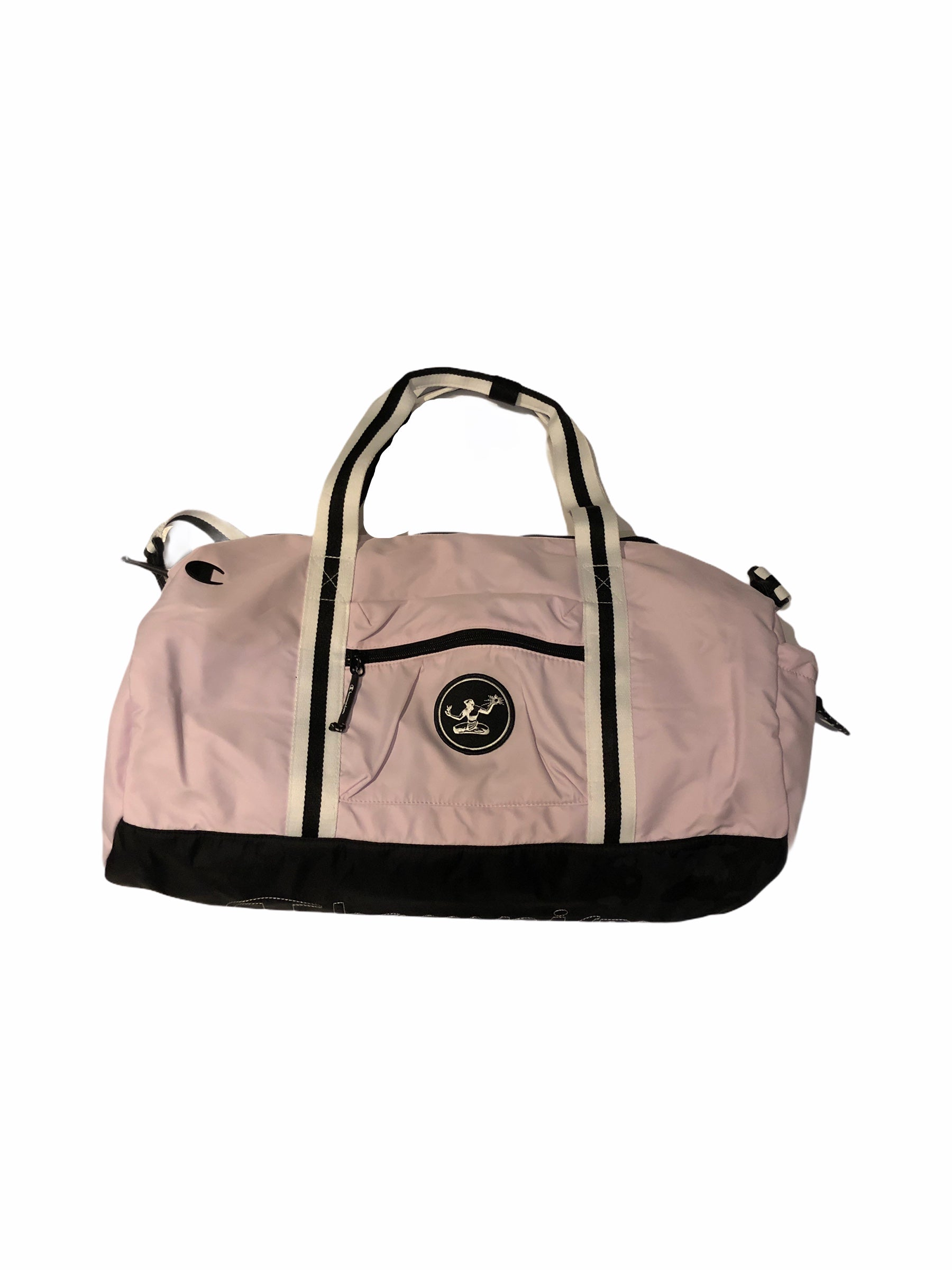 Spirit of Detroit Champion Duffel Bag / White + Pink - Pure Detroit
