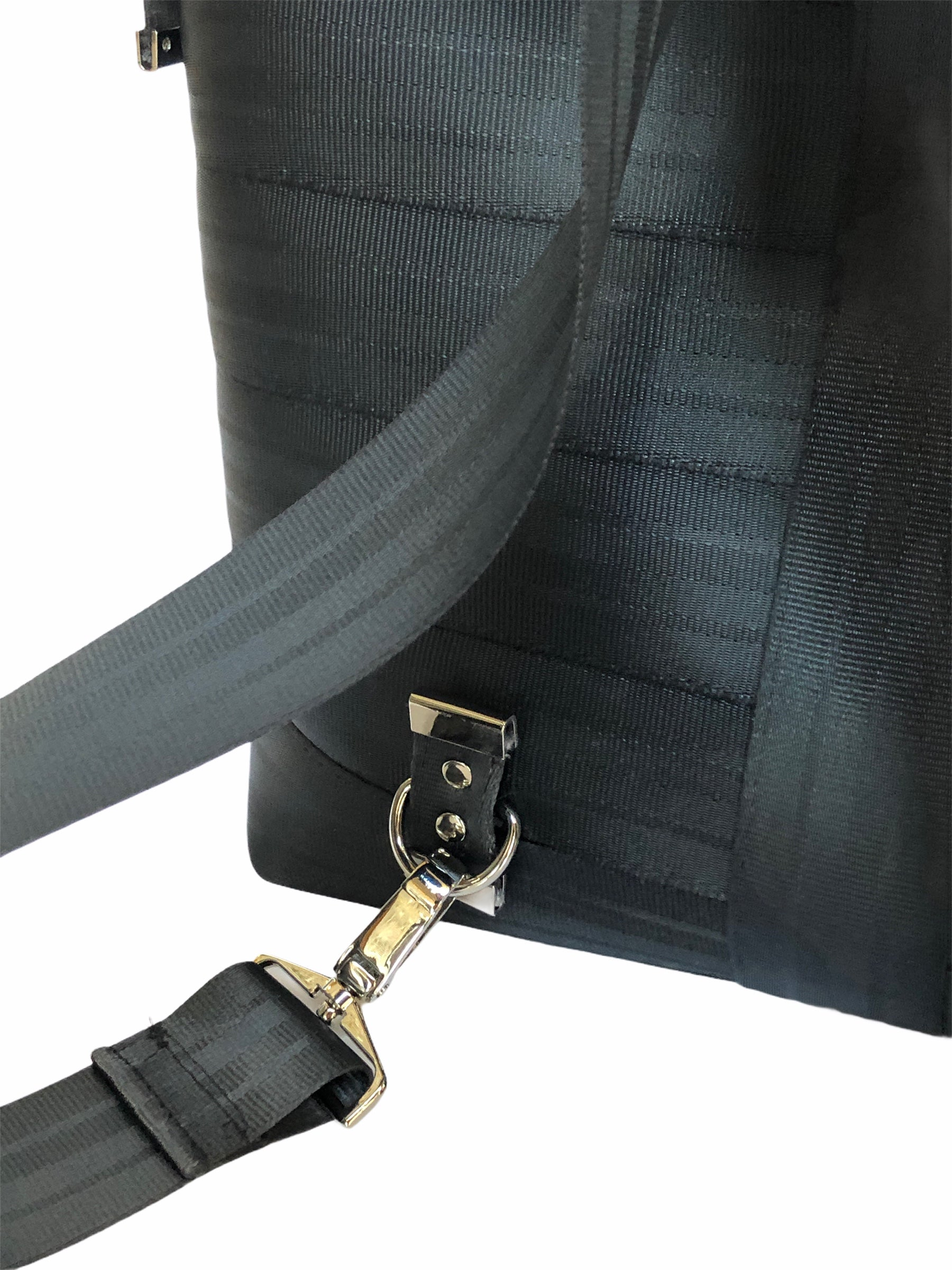 Pure Detroit OFFICIAL -  Convertible Tote Seatbelt Bag - Black PRE ORDER - Pure Detroit