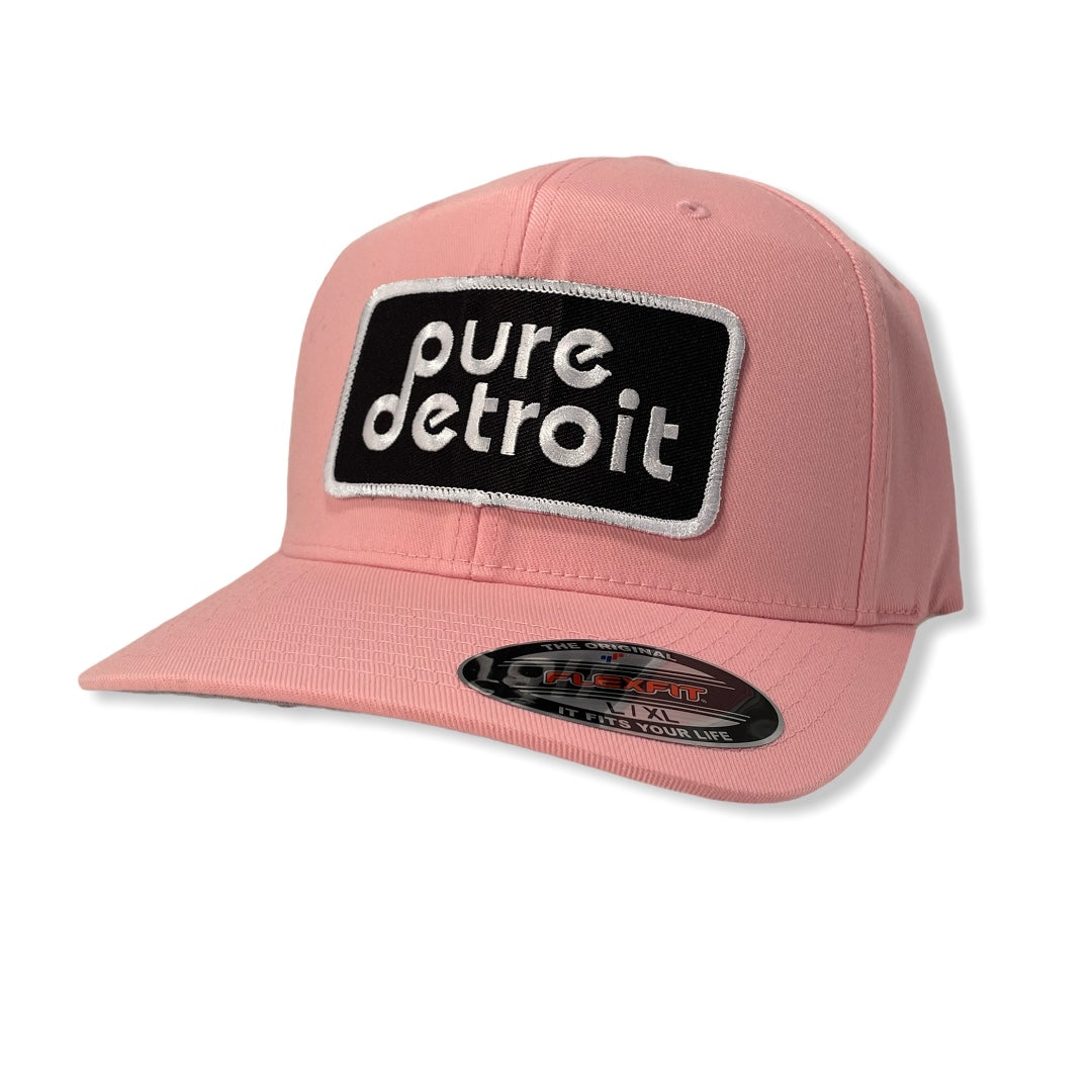 Pure Detroit Twill Flex Cap / Pink - Pure Detroit