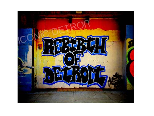 Rebirth of Detroit Luster or Canvas Print $35 - $430