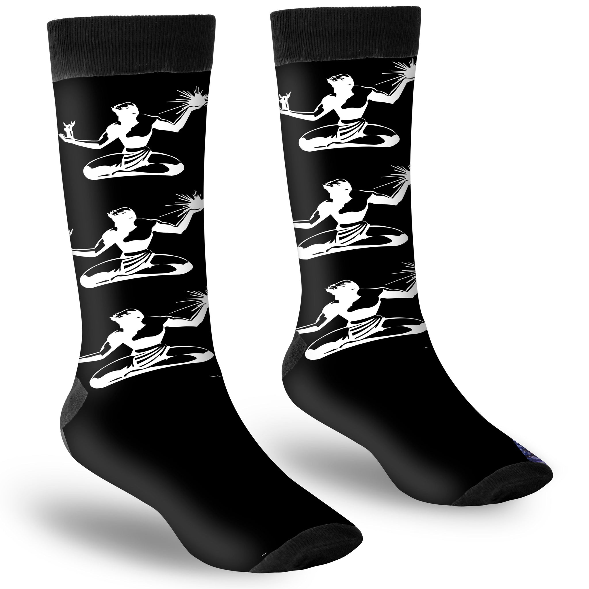Spirit of Detroit Polyester Crew Socks - Pure Detroit