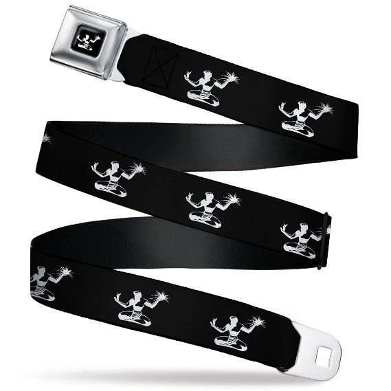 Spirit of Detroit Seatbelt Belt / Spirit of Detroit Logo + Black Spirit of Detroit Webbing