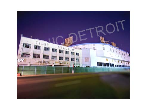 Tiger Stadium Trumbull Luster or Canvas Print $35 - $430 - Pure Detroit