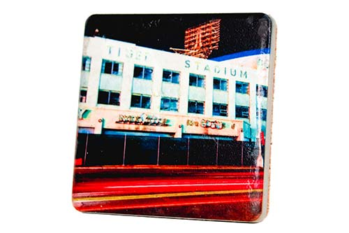 Tiger Stadium Exterior Porcelain Tile Coaster - Pure Detroit