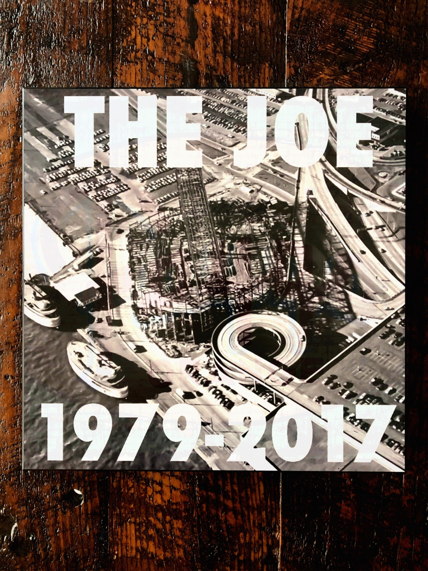 The Joe 1979-2017 Black and White Woodblock Print - Pure Detroit