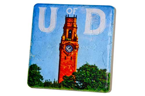 University of Detroit Mercy Bell Tower Porcelain Tile Coaster - Pure Detroit