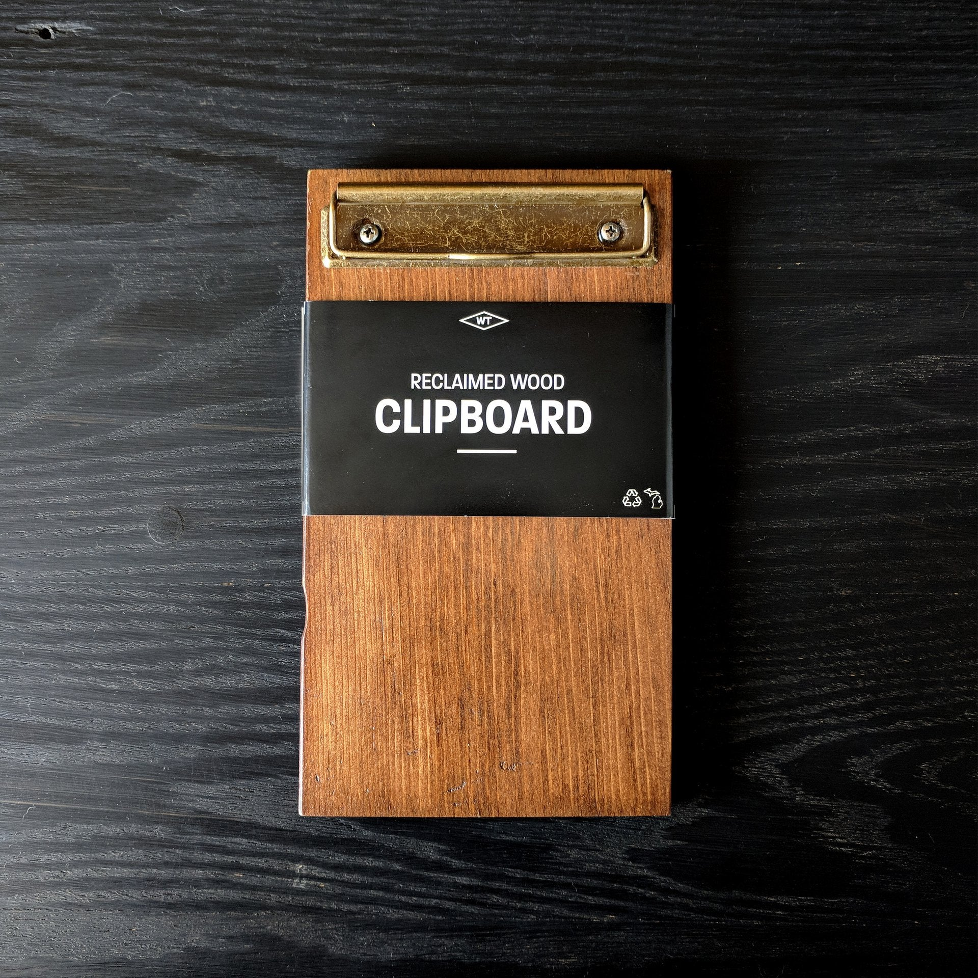 Reclaimed Wood Clipboard / Antique Finish - Pure Detroit