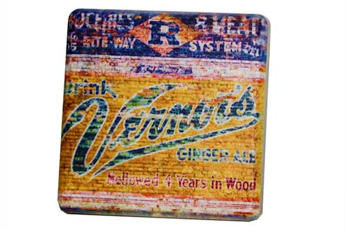 Vernor's Detroit Porcelain Tile Coaster - Pure Detroit