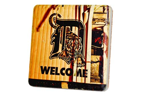 Welcome to Tiger Stadium Porcelain Tile Coaster - Pure Detroit