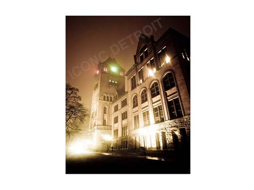 Wayne State University Old Main Luster or Canvas Print $35 - $430