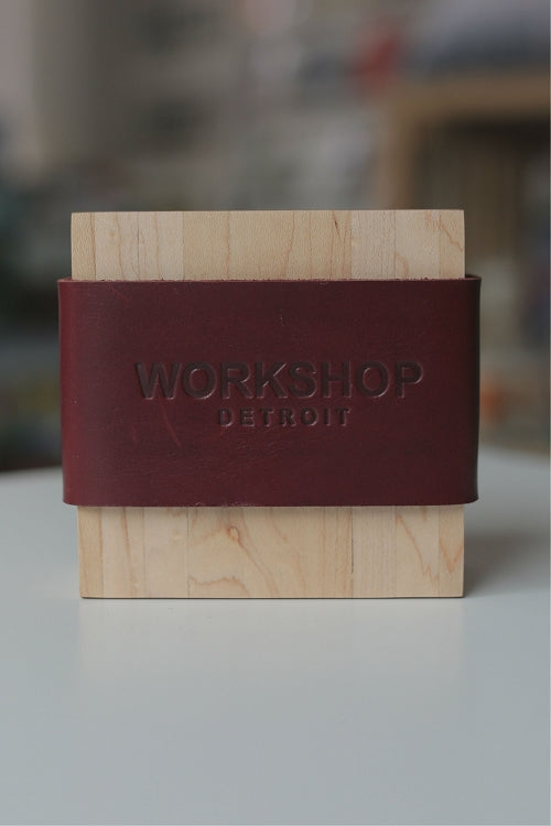 Workshop Detroit Reclaimed Wood Coasters / Amber