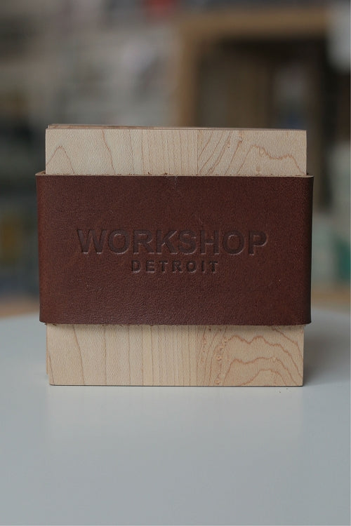 Workshop Detroit Reclaimed Wood Coasters / Lager