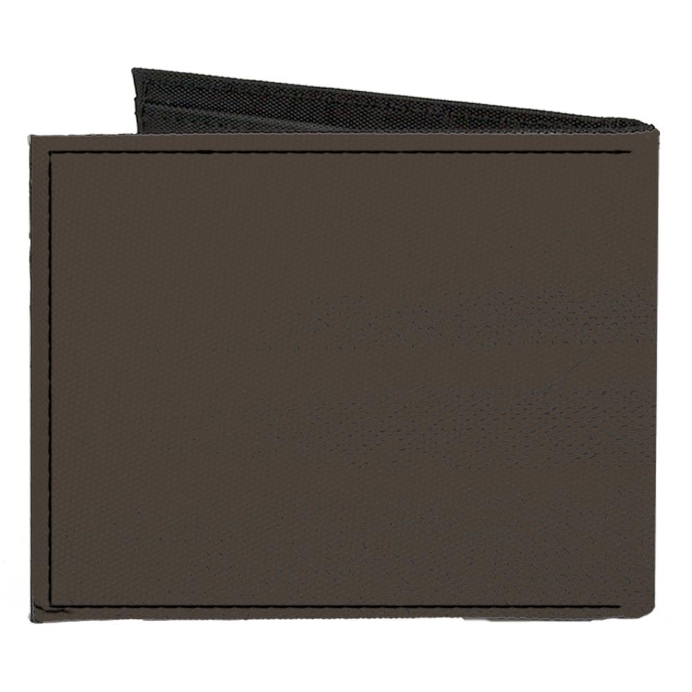 Chevrolete C1 Emblem Charcoal Gray Canvas Bi-fold Wallet - Pure Detroit
