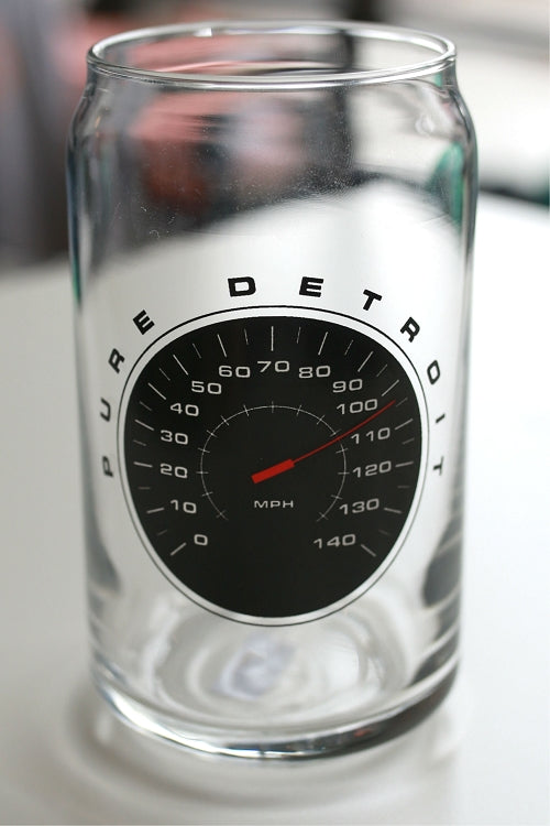 Speedometer 16oz Beer Can Glass - Pure Detroit