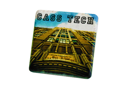 Cass Tech Porcelain Tile Coaster - Pure Detroit