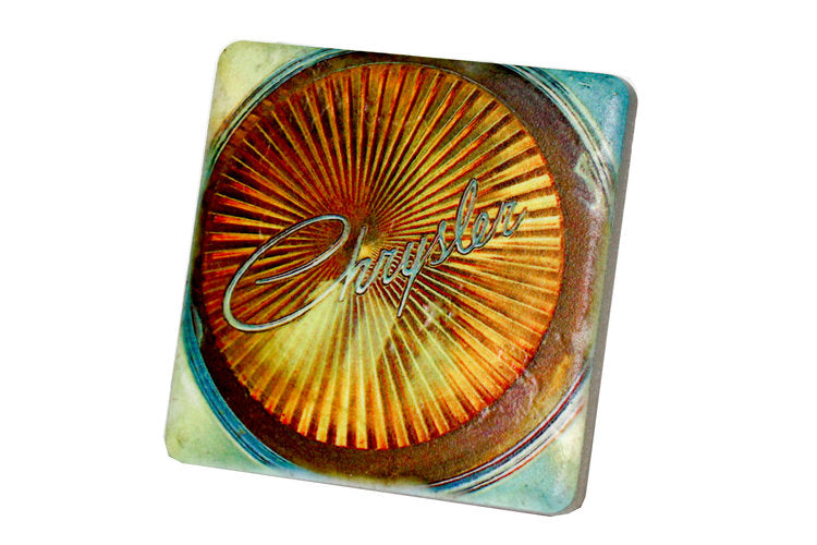 Chrysler Car Headlight Porcelain Tile Coaster - Pure Detroit