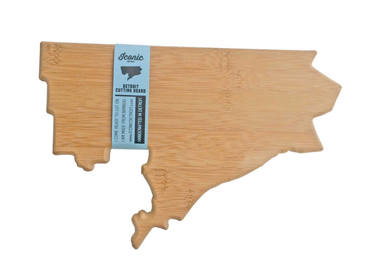 Bambo Detroit City Outline Cutting Board - Pure Detroit
