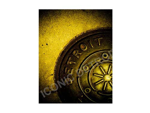 Detroit Manhole Cover Luster or Canvas Print $35 - $430