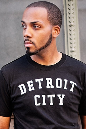 Detroit City Classic Tee / White + Black / Unisex - Pure Detroit