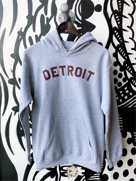 Detroit Classic Pullover / Maroon + Ash Grey / Unisex